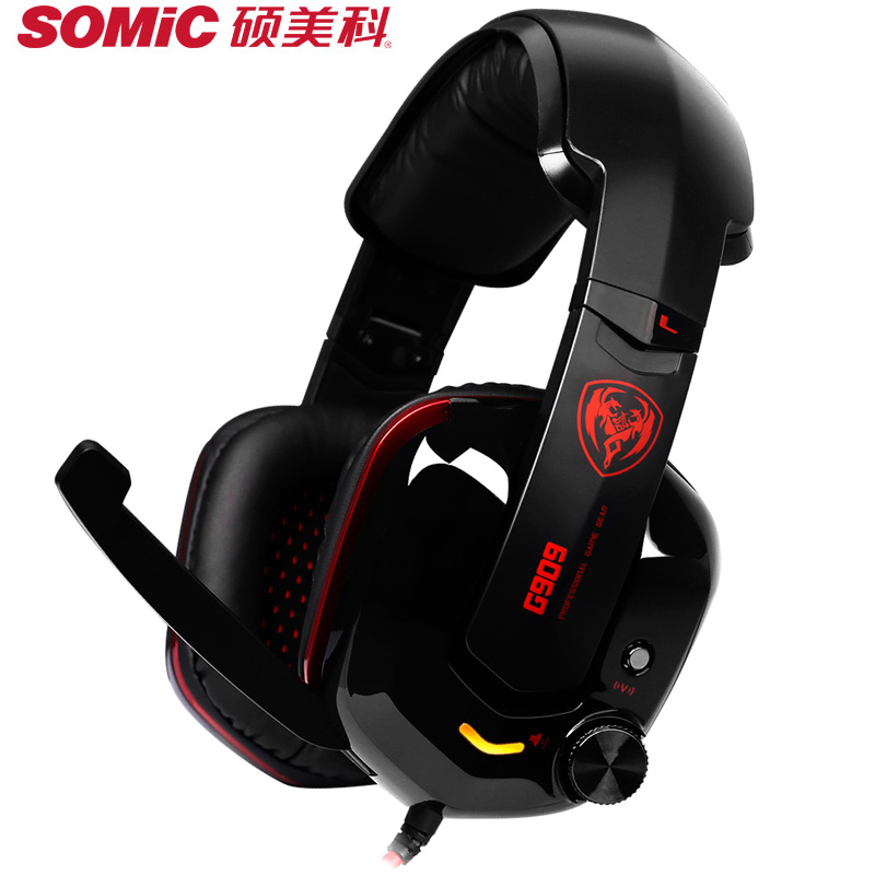 SOMIC G909 Virtual 7.1 surround sound Gaming Headset With Microphone Foldable Headphone Phone PC Laptop Earbuds For Gamer 3.5MM somic g909 7 1 virtual shocking gaming headphone with microphone usb pc computer wired headphone headset led for gamers