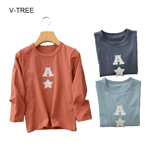Spring and autumn new children's long-sleeved T-shirt Cotton baby boys T-shirt  Children's  boys shirt