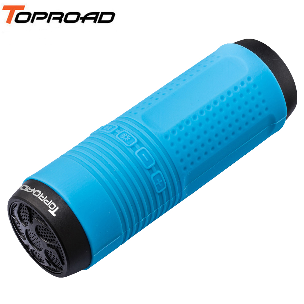 TOPROAD Wireless Bluetooth Speaker Bass Subwoofer Speakers Support <font><b>4000mAh</b></font> <font><b>Power</b></font> <font><b>Bank</b></font> TF FM LED Light with Bike Mount Carabiner image