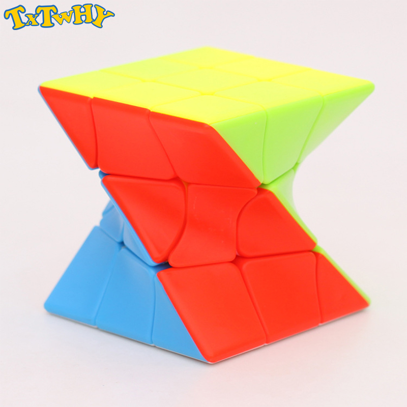 QiYi Zcube 3x3x3 Torsion Magic Cube Coloful Twisted Cube Puzzle Toy Stickerless Puzzles Colorful Educational Toys For Children