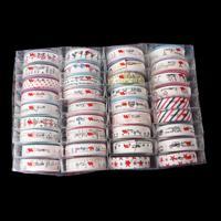 DoreenBeads Cotton Sewing Fabric Ribbon Handmade DIY Craft At Random Mixed Self Adhesive 26.0cm x 17.5cm,1 Box(Aprx 36Rolls)