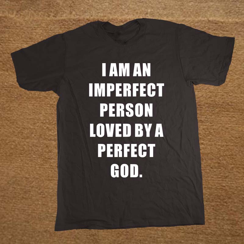 God love by PERFECT GOD and christian Jesus T Shirt Novelty Funny Tshirt Mens Clothing Short Sleeve Camisetas T-shirt