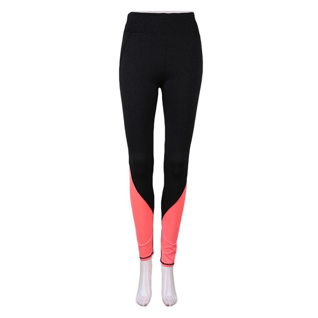 bosbary Yoga Pants Hollow Out Net Yarn Splicing Capris Quick-drying Fitness Woman