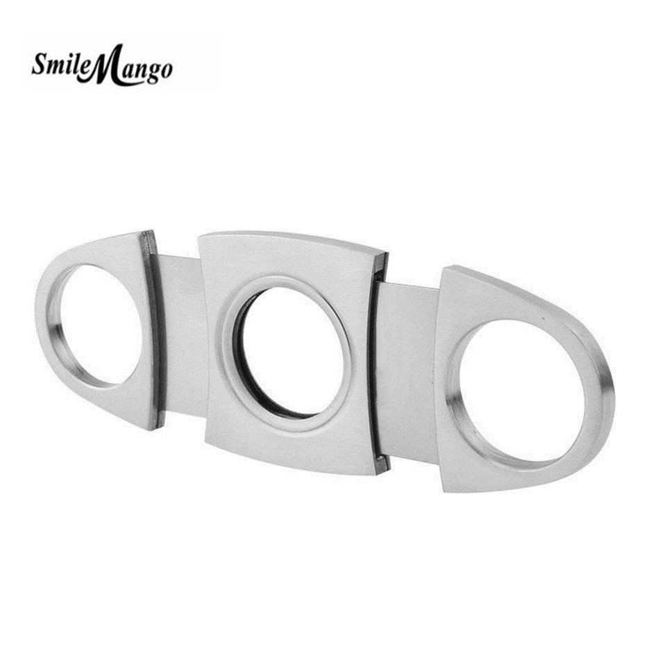 Free Shipping Cigar Cutter Brand New Stainless Steel Metal Classic Cigar Cutter Guillotine With  Christmas Cigar Gift