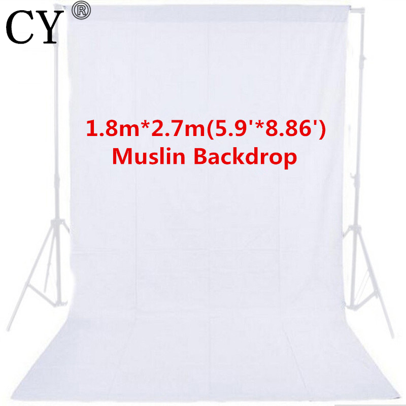 1.8m x 2.7m Photo Studio White Photography Backdrop 100% Cotton High Quality Solid Muslin Backdrop Background PSB2C