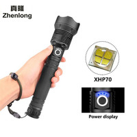 XHP70 40W 50000LM Led Flashlight Lampe Torche USB Rechargeable Flashlight Zoomable Linterna Tactical Defense Flashligh Camping