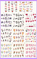 11 PACK/ LOT  WATER DECAL NAIL ART NAIL STICKER VALENTINE SWEET HEART BLE1313-1323