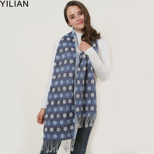 YILIAN Brand Tassel Bubble Small Flower Women Scarf Folds Elastic Fashion Designer Newest Lady Elegant Top Quality SF1155
