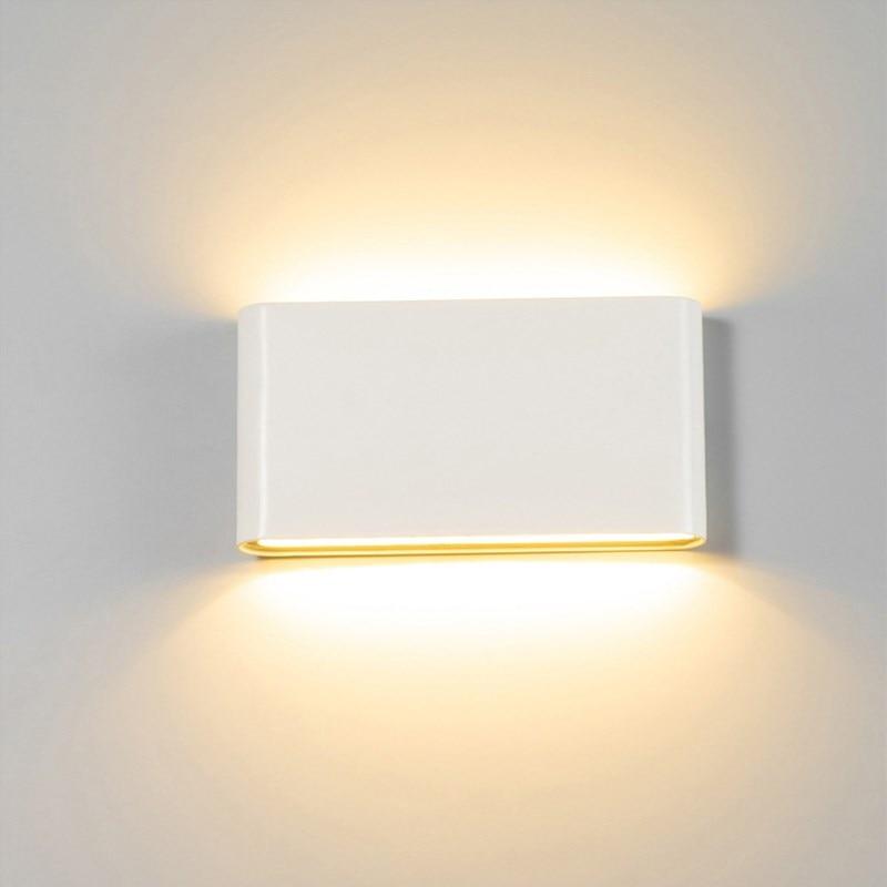 Outdoor Waterproof IP65 6W 12W LED Porch Lights Modern Indoor Decor Up Down Dual-Head Corridor Wall Lamp AC85-265V