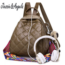 цены на Jiessie&Angela Backpack Women New Small Backpack PU Leather Shoulder Bags Fashion Travel Backpack School Bags For Teenage Girl  в интернет-магазинах