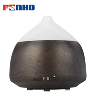 FUNHO Electric Wood Grain Air Purifier Bluetooth Music Player Aroma Humidifier Essential Oil Fragrance Diffuser LED