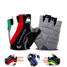 2016 Hot Cycling Gloves GEL Bicycle bike Racing Sport Road Mountain MTB Cycling Glove Breathable MTB Road guantes ciclismo luvas cheap Gloves Mittens MQS1520 Microfiber Stretch Spandex Washable Half Finger Half finger gloves