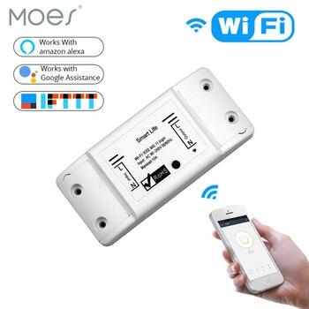 MOES дистанционный переключатель освещения DIY WiFi беспроводной универсальный пульт дистанционного управления таймер выключателя Smart Life APP раб...