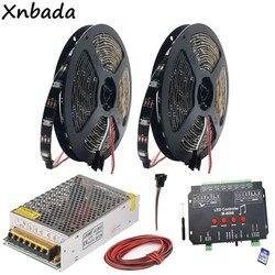 WS2812B WS2812 RGB Led Strip Light Tape M-8000 Prograble 8096 Pixels Music RGB Led Controller DC5V Led Transformer Kit