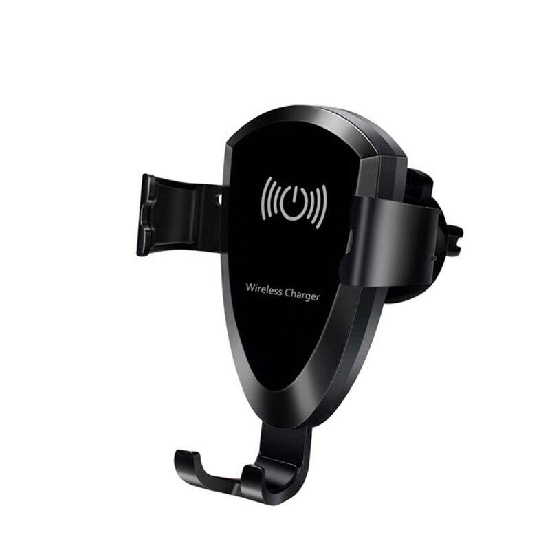 Chargeur sans fil pour téléphone portable Navigation universelle pour Iphone 8 Samsung Galaxy S7 support de style monté sur Clip de sortie d'air de voiture