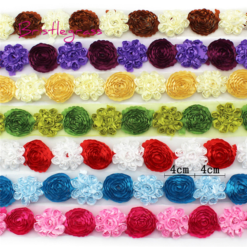 """1 Yard Leopard Embroidered Lace Trim Tulle For DIY Craft Wide 9 3//8/"""""""