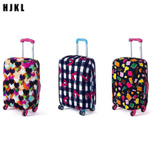 цены Travel Accessories Luggage Cover Suitcase Protection Baggage Dust Cover Stretch Fabrics Trunk Set Cases for