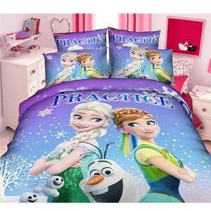 Image 2 - ディズニー冷凍王女練習女の子マックイーン車 moana 寝具セット子供の少年のガールズ布団カバーセット寝室デコレーションツイン