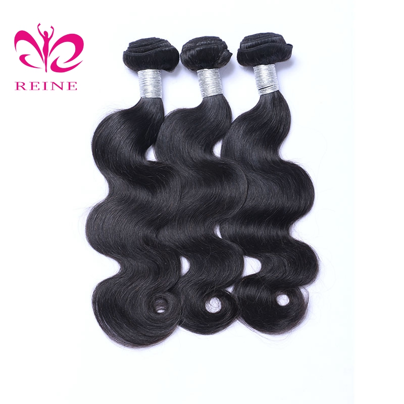 3 Bundles onda del cuerpo del cabello humano brasileño Color Natural - Cabello humano (negro)