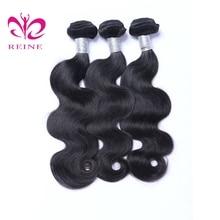 3 csomó hullámhosszú brazil emberi haj Natural Color 8-26inch 3 db / tétel Haj Szövő Non Remy REINE ingyenes szállítás