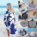 Verano Mandala Roundie Playa Sarong Pareo Abrigo de La Bufanda Chal de Gasa de Boho Floral Tapiz Manta Toalla de Playa del traje de Baño Cover up