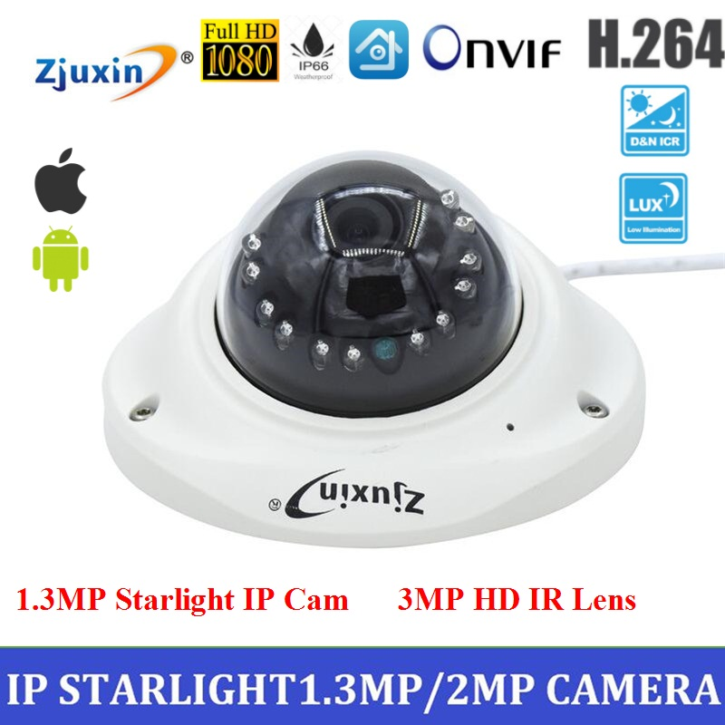 NEW IP camera 1.3mp starlight IP cam for elevator metal cctv camera with 3mp HD Lens Onvif night vision camera for home энергосберегающая компактная лампа master pl e 20w 827 e27 philips 871150075143010