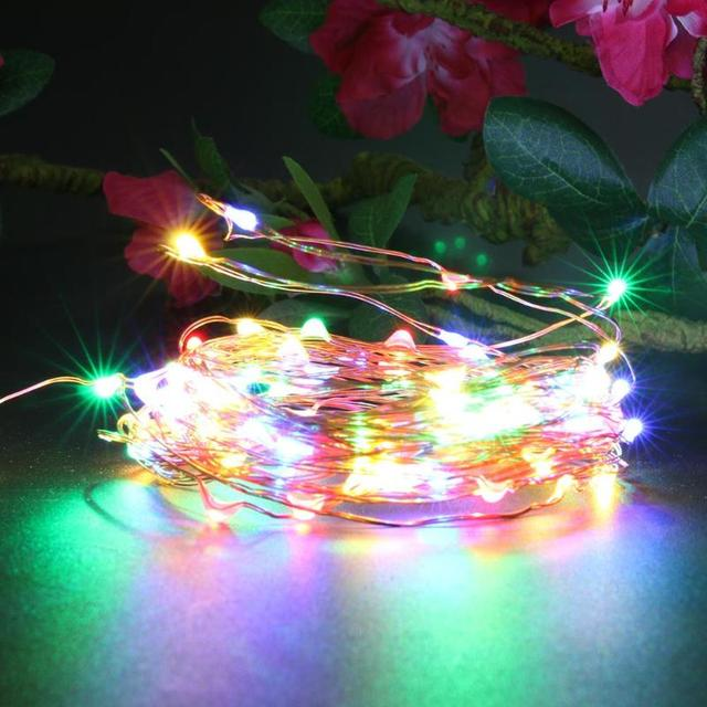 10m 100LED USB Copper Wire Light Fairy String Christmas Festive Wedding  Party Decor Colorful Lamp Rechargeable - 10m 100LED USB Copper Wire Light Fairy String Christmas Festive