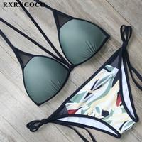 RXRXCOCO Large Size Printed Swimwear Women Bikini 2018 Bathing Suits Push Up Swimsuit Bikinis Set Sexy