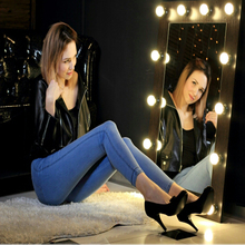 Hot Selling High Waist Jeans Woman Skinny Jeans Femme Stretch Ladies MT