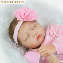 Npk collection 50 cm silicone reborn baby poupées de couchage poupée vivante avec poupée vêtements coiffe, 20 pouce reborn bébés boneca