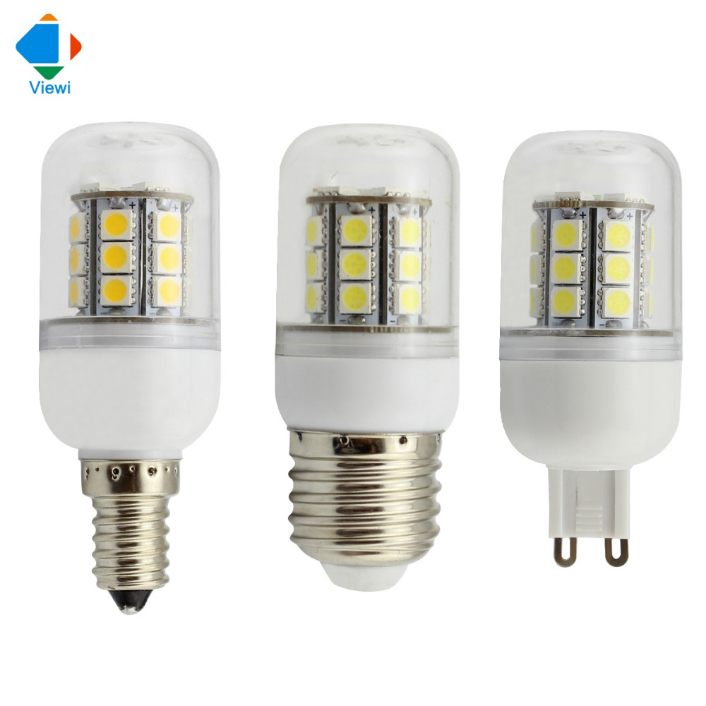 5X 24 volt led bulbs 12v E14 E27 G9 5w corn lamp smd 5050 27leds high
