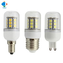5X 24 volt led bulbs 12v E14 E27 G9 5w corn lamp smd 5050 27leds high bright 360 degree 12 v bombilla clear cover bulb lighting