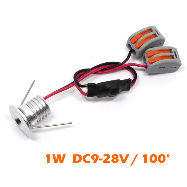12pcs Lot 1w Super Mini Led Spots Light High Quality Dc12v