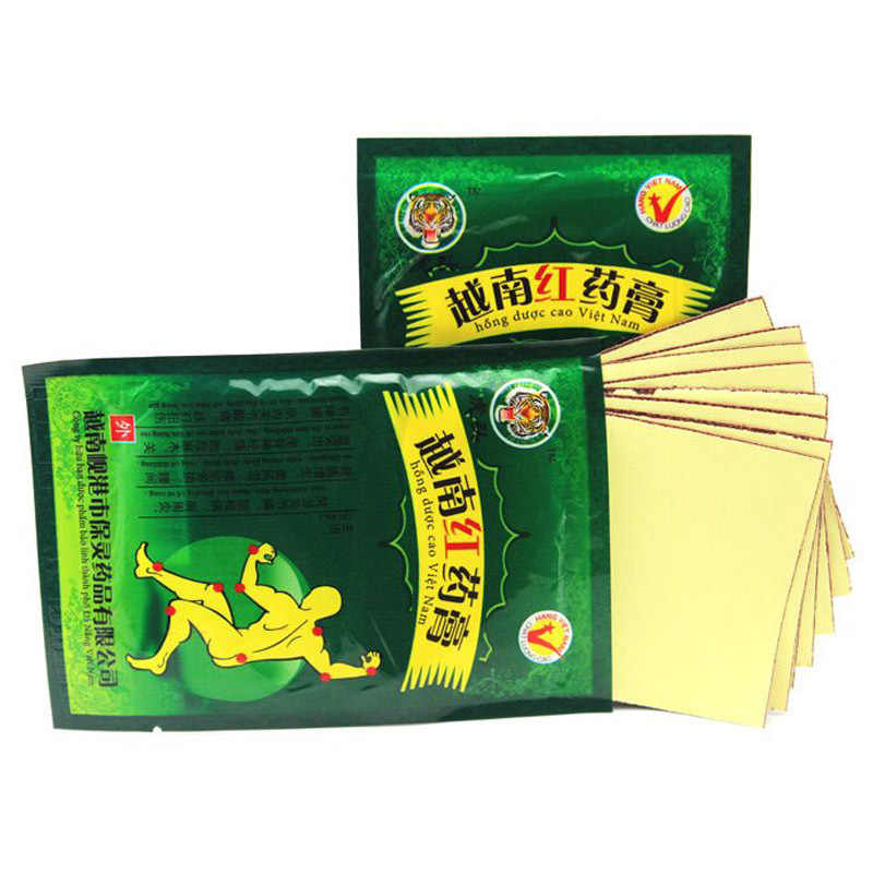 48 pièces/6 sacs Vietnam rouge baume du tigre traitement plâtre épaule Muscle douleur articulaire Patch rigide soulagement soins de santé C077