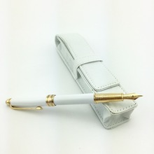 High quality 163 white with golden clip fountain pen school office stationery hot sell mb Writing pen+pen bag