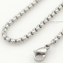 women Silver Stainless Steel Chain Men Necklace Jewelry Accessories, link chain body chain Wholesale Free Shipping
