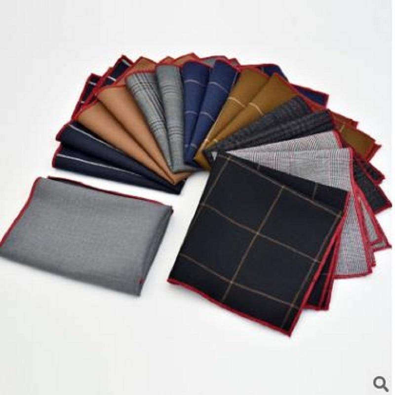 2018 Latest Fashion Men's Suit Suit Business Lattice Stripes Pocket Cloth Multi-color Optional Folding Square