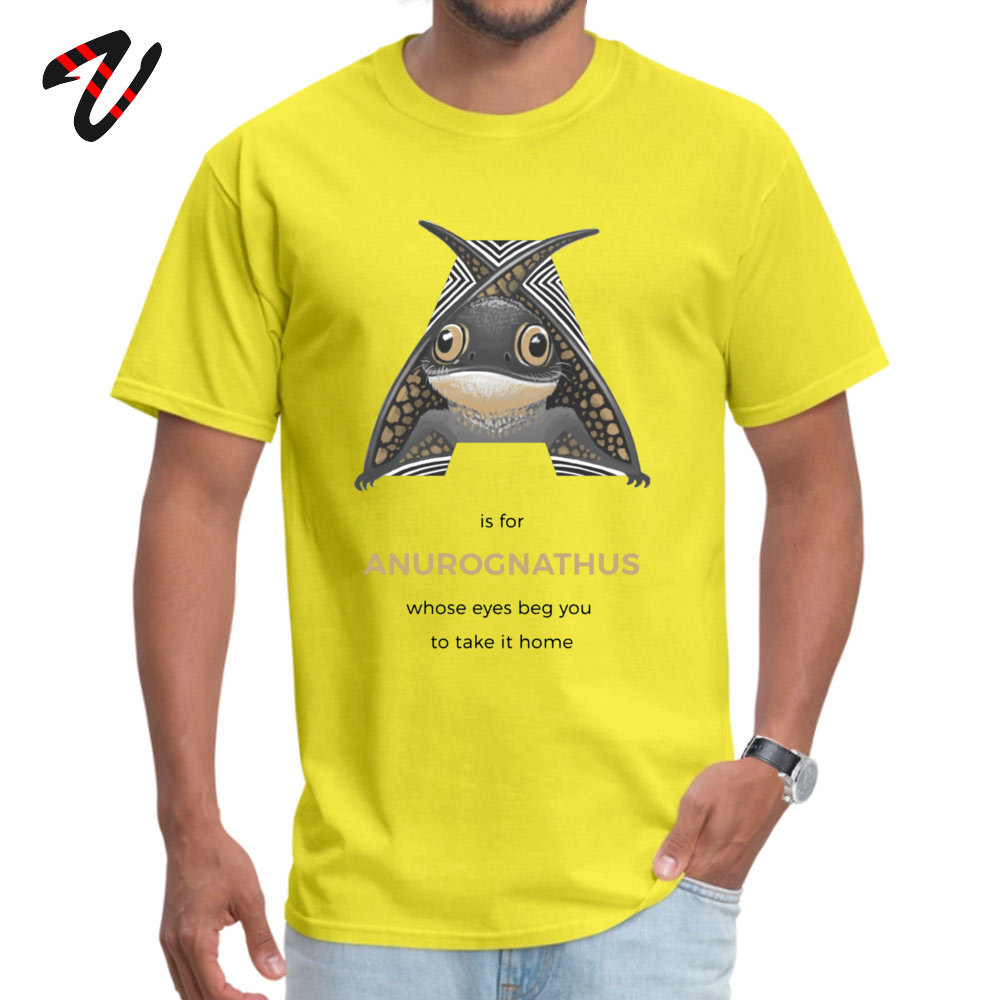 A is for Anurognathus Hip hop T-shirts Men 100% Cotton Summer Tops Tees Tee-Shirts Ukraine Sleeve Fashionable Round Neck