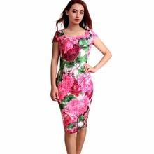 Women Dress Elegant Business Casual Wear To Work Party Stretch Sleeveless Bodycon