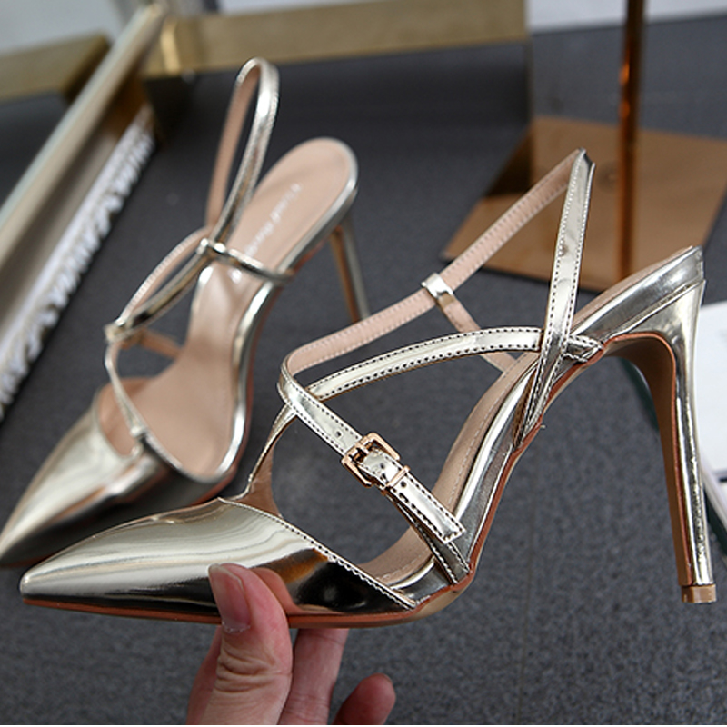 New Brand Ankle Strap Cut outs Style font b Women b font Pumps Thin High Heel