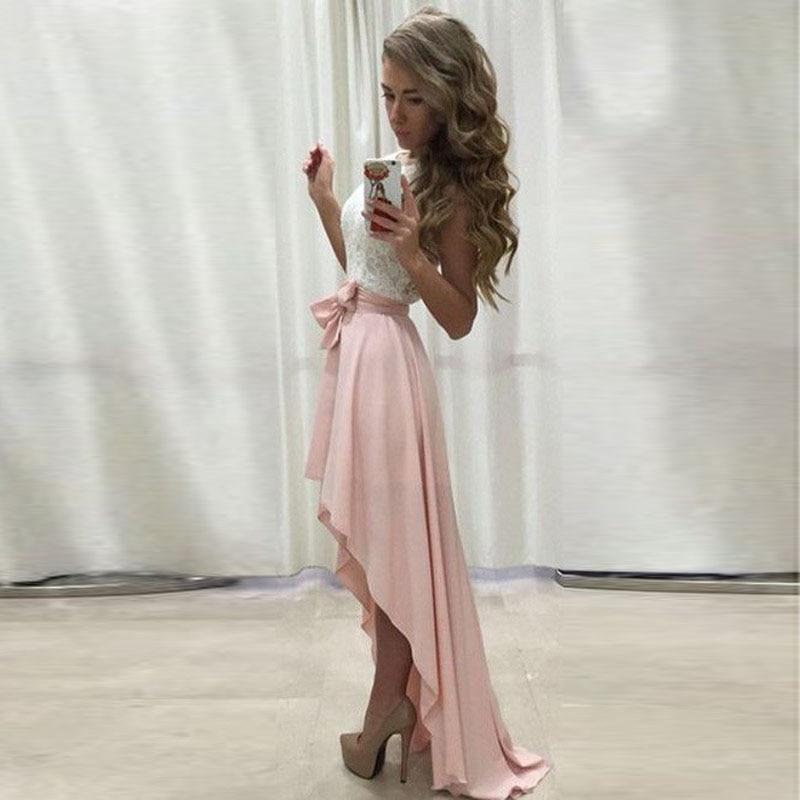 aliexpress buy pink chiffon high low skirt ribbons