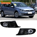 eeMrke For Volkswagen VW Golf6 Golf MK6 LED Angel Eyes Fog Lamp DRL Daytime Running Lights Halogen Bulbs H11 55W Kits