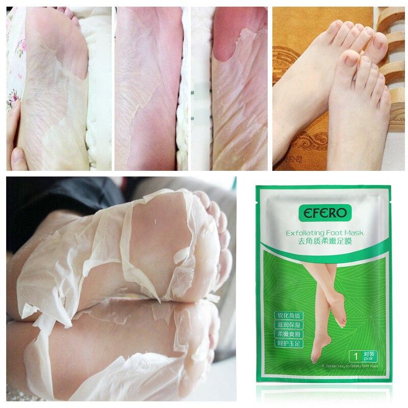 Füße Efero 6 Stücke = 3 Pairs Baby Füße Maske Socken Für Pediküre Peeling Fuß Maske Entfernen Abgestorbene Haut Nagelhaut Peeling Peel Off Maske