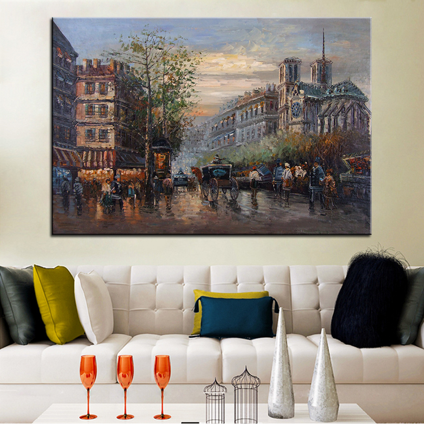 Extra Large wall Painting of voiture Home Office Decoration paint Canvas Prints No Framed Canvas wall picture Giclee art no frame canvas