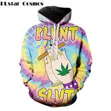 PLstar Cosmos 2018 otoño moda 3d sudaderas con capucha fabuloso Blunt Slut sudadera  trippy Tie-dye Weed Leaf estampado mujeres h. 5bc06e136d2