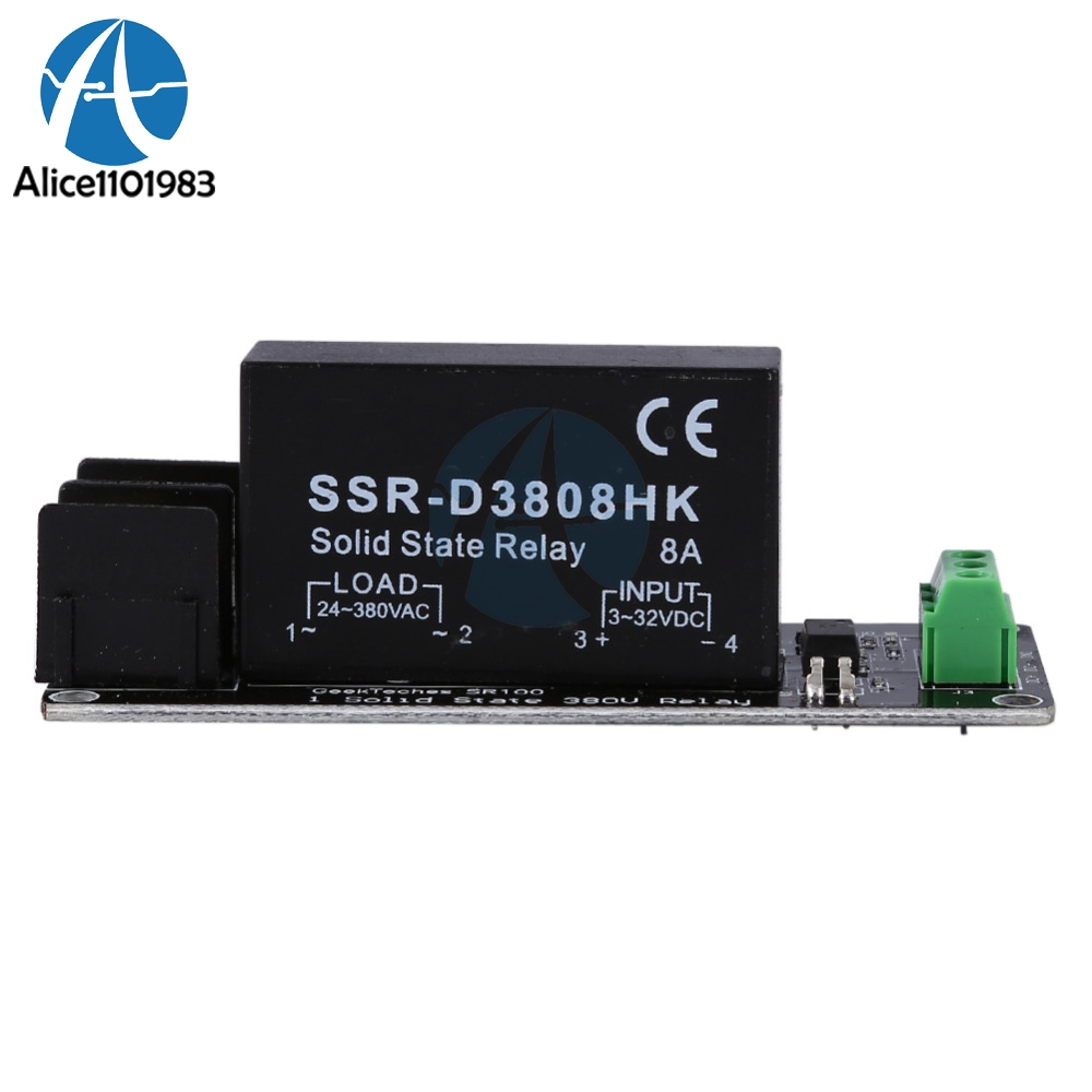 380V 8A 1 Channel Solid State Relay Module High and Low Level Trigger Module Board SSR Switch Controller For Arduino 1 Way380V 8A 1 Channel Solid State Relay Module High and Low Level Trigger Module Board SSR Switch Controller For Arduino 1 Way
