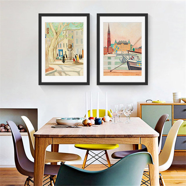Childlike Innocence Hans Christian Andersens Fairytales Kingdom Canvas Modern Art Poster For Baby Room Living