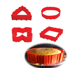 4PCS Silicone Cake Baking Molds Square Rectangular Round Shape Magic Bakeware Mold Bake Snake Molud Pastry Tools