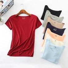 Летняя женская футболка, хлопок, короткий рукав, высокая эластичность, дышащий Топ, женская футболка, D96
