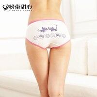 Ms underwear female waist cotton fabrics in cotton cotton girl sexy underwear cartoon girls triangle pair of drawers